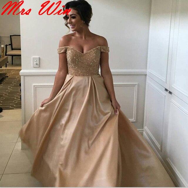 2017 Grey Champagne Chiffon Long Mermaid Bridesmaid Dress African ...