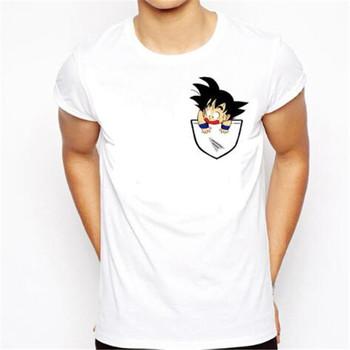 28b6632d Dragon Ball T Shirt Men Summer Dragon Ball Z super son goku Slim Fit  Cosplay 3D T-Shirts vegeta Tshirt Homme