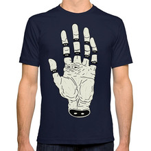 Cotton Fashion T Shirt Crew Neck The Hand Of Destiny / La Mano Del Destino Short Sleeve Tall Mens