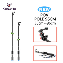SnowHu For Gopro Accessories 98cm Monopod Remote Housing And Tripod Mount Adapter Hero 5 4 3+ for xiaomi yi 4k GP164