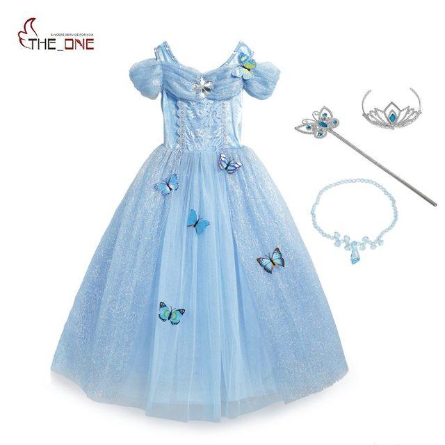 MUABABY Girls Cinderella Dress up Costume 10 Butterflies Kids ...