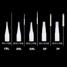 50pcs 1RL/3RL/5RL/5F/7F Sterilized Disposable Permanent Makeup Needles Tattoo Needles for Eyebrow Microblading Blades Accessiors