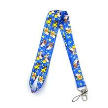 Regooly RE60 dog cartoon kids Neck keychain necklace Anime Cartoon Strap Lanyard ID badge holder Keychain Lanyards