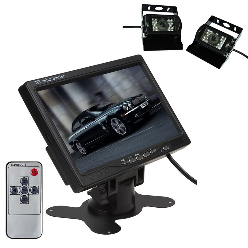 7 inch Digital Screen TFT LCD Color HD Display Remote Control Car Monitor 40pin8 inch lcd screen digital screen ls080ht111 universal 40pin industrial control display