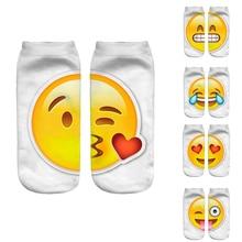 New 3D Emoji Socks Women Fashion Single Side Printing Men Cotton Socks Unisex Socks Pattern Meias