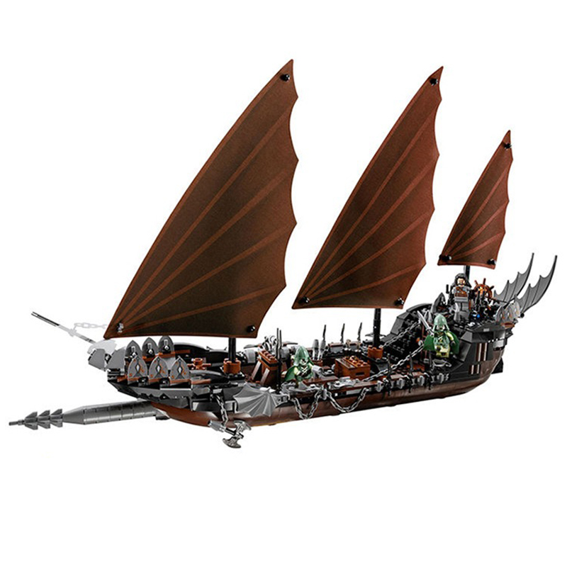 Lepin 16018 The Lord of Rings Series The Ghost Pirate Ship Building Blocks Legoed Blocks Educational Toys Children Toys Gifts