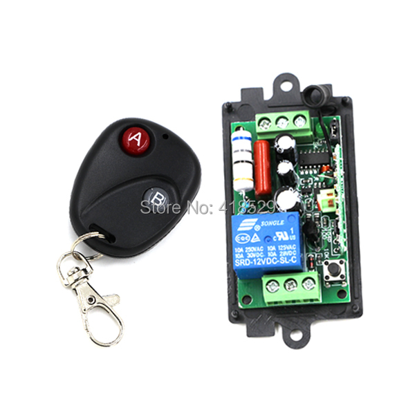 wireless switch AC 110V 220v 1ch remote control,Switch System 10A RF 433MHZ 315MHZ for LED light Lamp SKU: 5045 ...