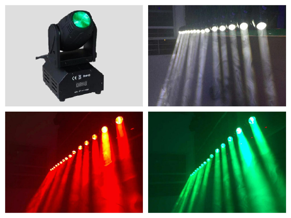 1pcs/lot, Cree LED Moving Head Beam 10W Light White / RGBW mini wash Spot Gobo Effect Light stage Lighting DJ 6pcs lot moka16 25w rgba 4in1 moving head light zoom beam wash spider light dimming strobe stage lighting effect led projector