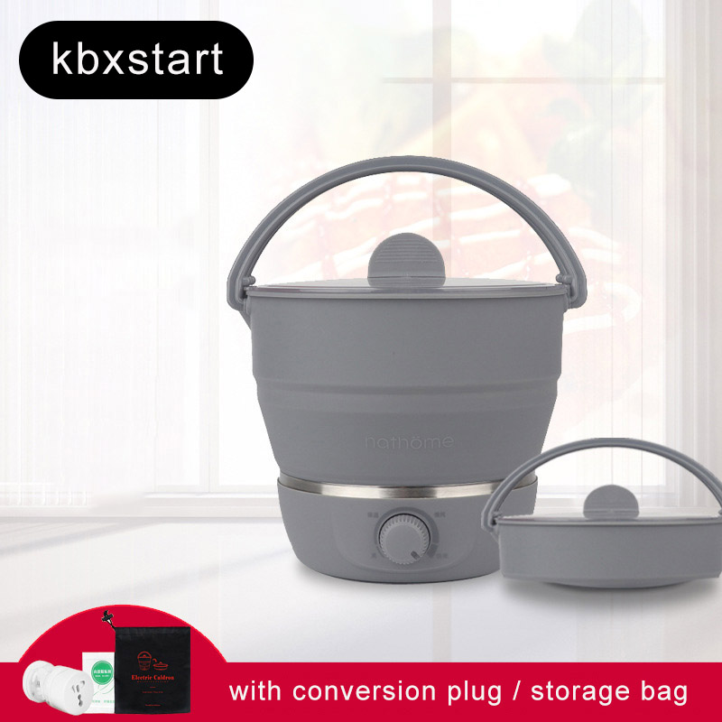 100V-240V Multifunctional Electric kettle Foldable Travel Kettle Small Hot Pot Cooker Dormitory Home Person Cooker