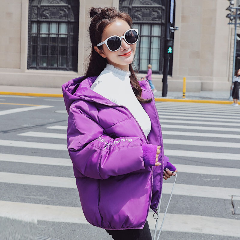 Hooded   Parka   Women Winter Jacket Harajuku Style Puffer Jacket And Coats Female 2019 Fashion Brand Womens Cotton Padded Jacket