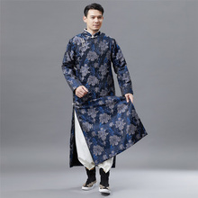Chinese Traditional Tang Suit Long Robe oriental ethnic clothing Hanfu male Vintage Qipao gown stand collar vestido for men
