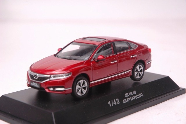 1 43 Cast Model For Honda Spirior Accord 2016 Red Sedan Alloy Toy Car Miniature Collection Gifts