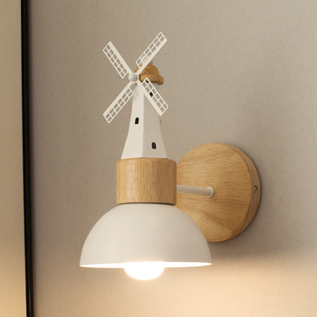 Creative windmill wall lamp Nordic bedroom living room bedside reading wall lamp stairs restaurant aisle decor lights mx4251052