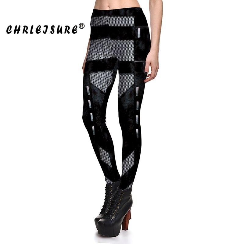 Chrleisure принт Activewear Леггинсы для женщин Мода черный полиэстер Высокая Талия Фитнес Legins Стандартный облегающие брюки Леггинсы для женщин Для ...