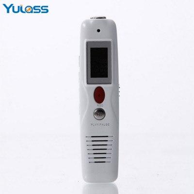 Yulass Digital Audio gravador de voz ditafone profissional 4 GB branco VAR / VOR USB pequeno gravador com MP3 Player / LCD