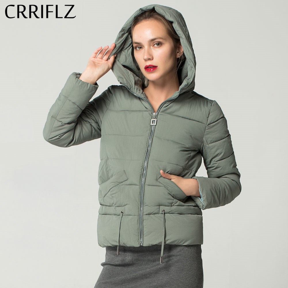 Causal Slim Hooded Woman Coat Warm Short Women's Winter   Basic     Jackets   and Coats Female Parkas Tops CRRIFLZ New Winter Collection