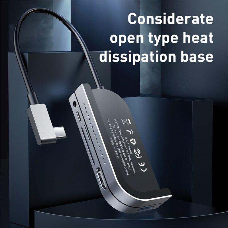 Moyeu multi-USB C Baseus vers HDMI USB 3.0 moyeu de Type C pour iPad Pro USB-C à plusieurs ports adaptateur de moyeu USB type-c pour MacBook Pro Air - 2