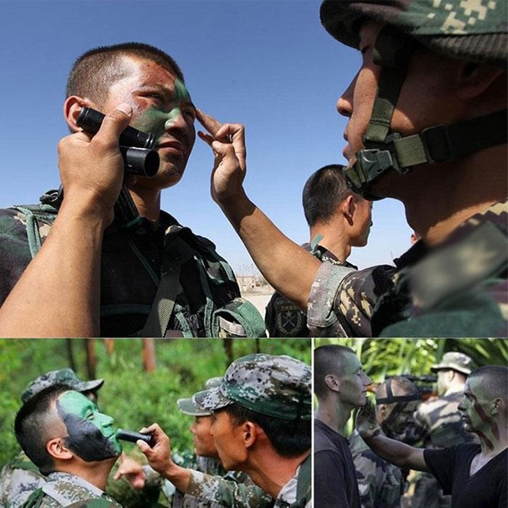 Painting-Tool Military Tactical Real Face 3-Color Cs-Games Suitable-For