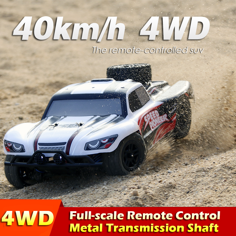 2.4G 4WD High speed rc racing car WPL 40km/h 1:18 Remote control SUV rc crawler drive Climbing RC Toy LED Light auto 9300