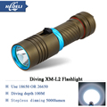 100M LED Diver Flashlight Diving Torch scuba flashlights underwater light 5000lumen CREE XM L2 Lamp rechargeable waterproof