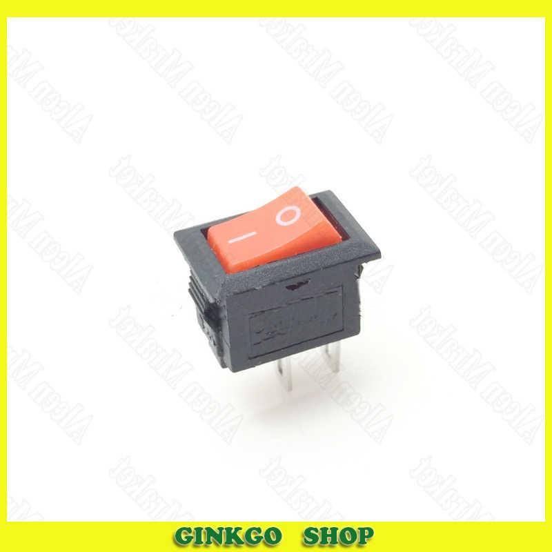 300 pcs/lot petit interrupteur à bascule 10X15mm 2 pieds 2 fichier bouton d'alimentation interrupteur à bascule tête rouge