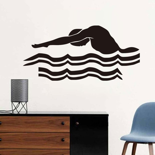 dctop swimming wall sticker swim swimmer sport laps gym cheapest