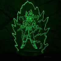 Usb 7 Color Visual 3D Led Dragon Ball Desk Lamp Home Decor Atmosphere Night Light Cartoon