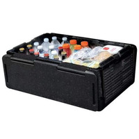 New 60 Cans Chill Chest Cooler Collapsible Portable Outdoor Thermos Wine Whisky Ice Bucket Insulated Waterproof Cool Storage Box