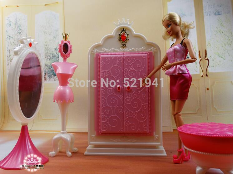 Free Delivery Lady birthday reward  DIY wardrobe mixture woman toy play home doll equipment doll furnishings for barbie doll