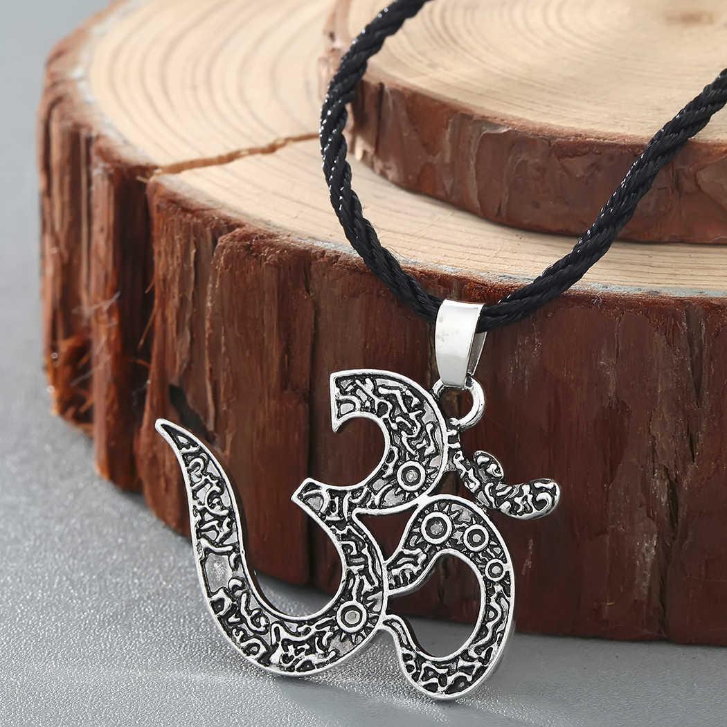Cxwind Retro słowiański talizman urok Symbol naszyjnik geometryczne okrągłe Kolovrat wisiorek Viking mężczyźni biżuteria trójkąt joga naszyjniki