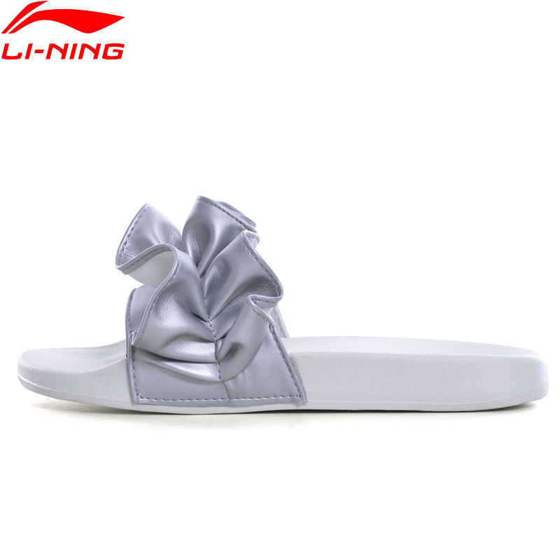 (Break Code)Li-Ning Women LN SLIPPER LOTUS Sandals Comfort Stylish Slipper Light LiNing Li Ning Sport Shoes AGAN006 XWT1453