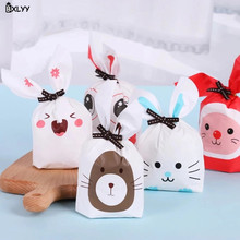 BXLYY 10pcs / Lot Multicolor Cute Bunny Ear Candy Bag DIY Kids Birthday Party Supplies Kitchen Tool Widget. 7Z