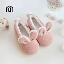 Millffy new Cotton warm shoes cute adorable bunny slippers rabbit super soft warm anti- slip shoes