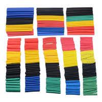 Juego surtido de manguitos de Tubo termorretráctil de poliolefina, de 7, 14, 127, 164 o 280/328 Uds., conjunto de envoltura de alambre de 8 tamaños, Multicolor/negro