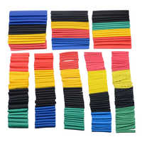 7/14/127/164/280/328pcs Assorted Polyolefin Heat Shrink Tubing Tube Cable Sleeves Wrap Wire Set 8 Size Multicolor/Black