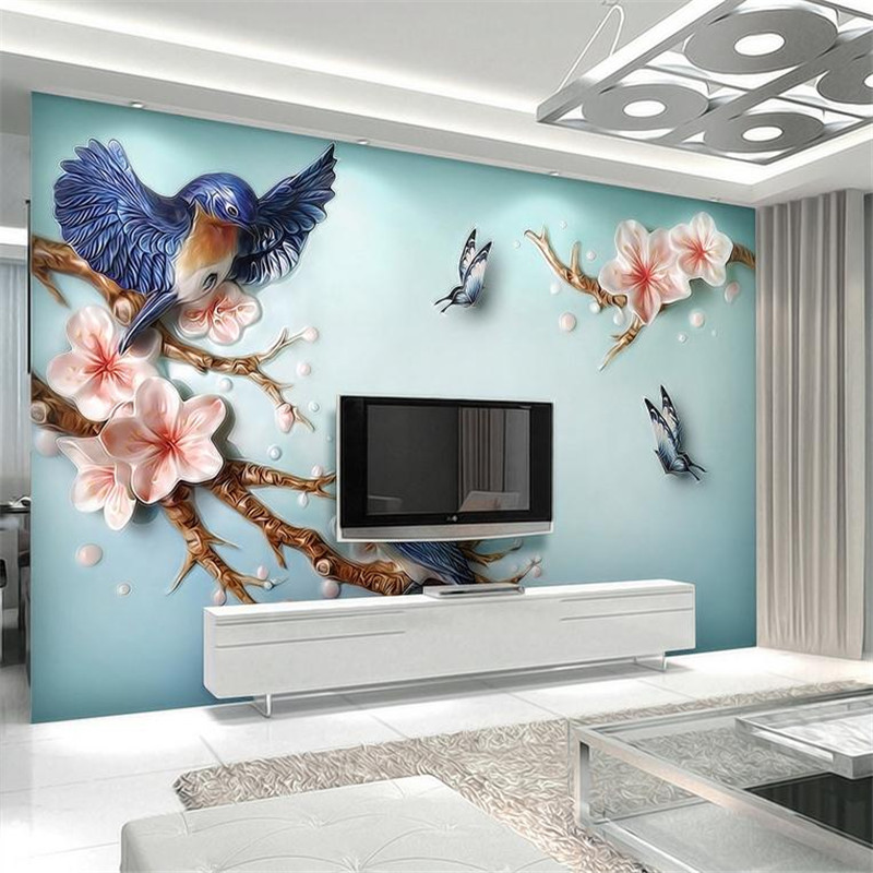 3d modern custom photo wallpaper large 3d relief simulation effect wall mural living room bedroom sofa TV background wallpaper large mural living room bedroom sofa tv background 3d wallpaper 3d wallpaper wall painting romantic cherry