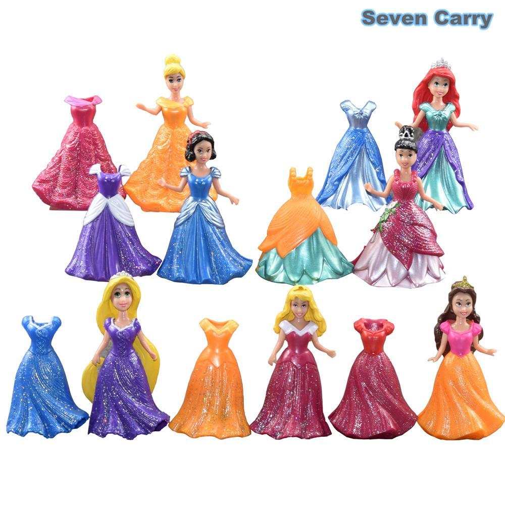 14pcs/set Princess Play Set Snow White Ariel Belle