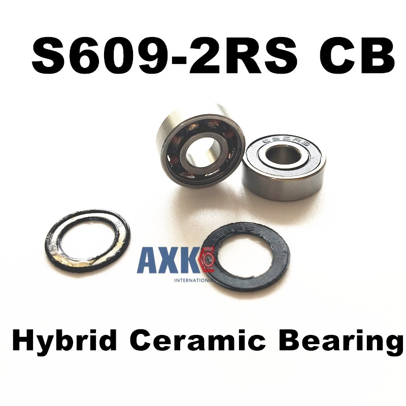 Free shipping S609-2RS CB stainless steel 440C hybrid ceramic deep groove ball bearing 9x24x7mm 609 купить
