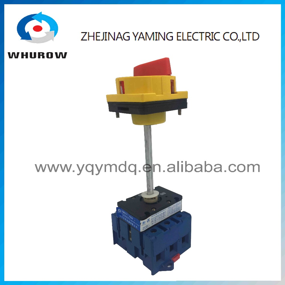 Isolating switch YMD11-80B with padlock handle aluminum pole 80A Load break power cut off operation outside electrical cabinet  500vac 16a 2 pole disconnect isolating switch fuse type