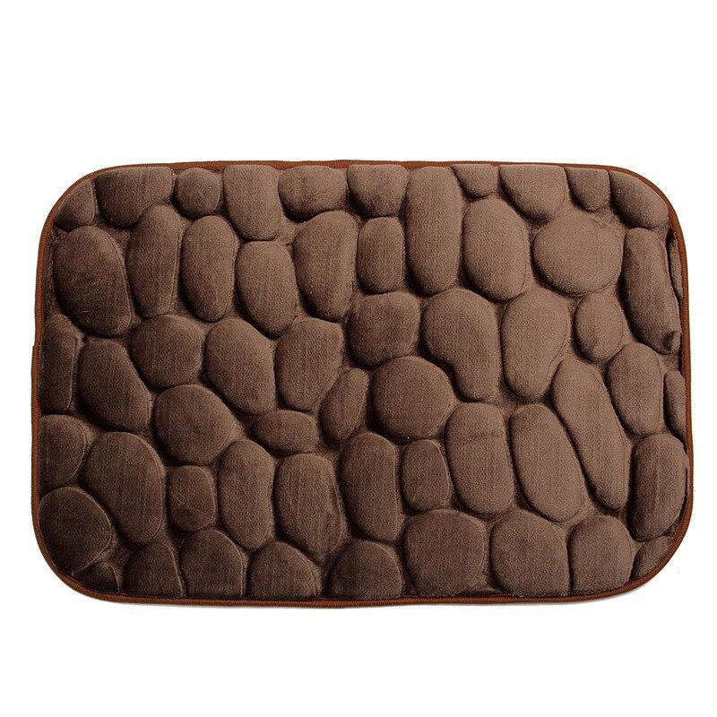 Xueqin 3D Foam Pebble Rock Bath Mat Simple Beautiful Grey Memory Rug ...