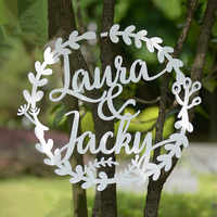 Personalized Wooden Wedding Party Decoration Favor Customized Wooden Decoration Bride and Groom Named Wood Wedding Gift