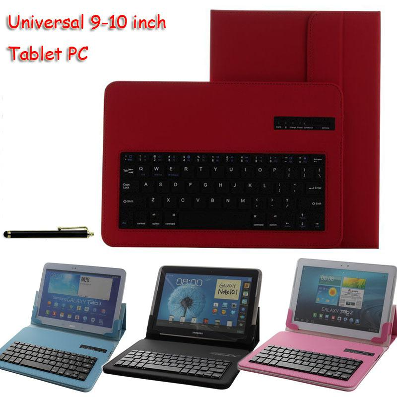 Universal Removable Bluetooth Keyboard PU Case Cover For HP Slate 10 HD For Lenovo Miix2 10 For Samsung galaxy tab 4 SM-535 10.1 universal 61 key bluetooth keyboard w pu leather case for 7 8 tablet pc black
