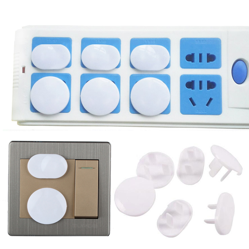 Крышка гнезда Сетевая розетка крышка детские протекторы Plug защитная крышка Прочный 10 шт. безопасный ABS дома