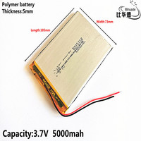Good Qulity Liter energy battery 5073105 5500mAH Li-ion battery For 7 8 9 inch tablet PC 3.7V Polymer Battery With