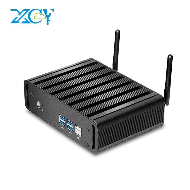 XCY Mini PC Core i3 4010U 5005U i5 4200U 5200U Double-Noyaux Mini Ordinateur De Bureau de bureau HTPC Windows 10 Linux