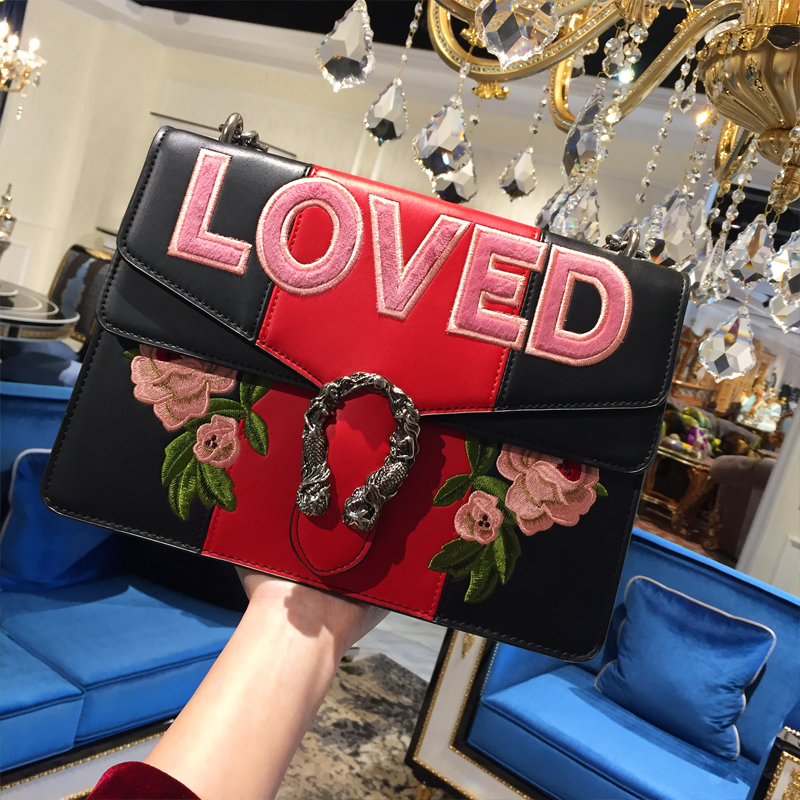 Здесь продается  High-end Custom 2018 Luxury Handbag Women Bag Designer Brand Chain Messenger Shoulder Bag Lady Flower Embroidery Clutch Channels  Камера и Сумки