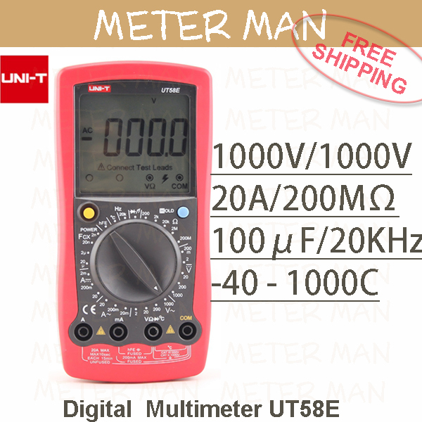 ФОТО Proffesional Brand New 4 1/2 Manual Range 2000 Counts   Resistance Capacitance Frequency Temperature  Digital Multimeter UT58E