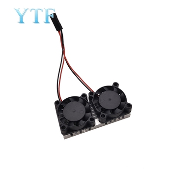 100pcs Raspberry Pi 3 modelo B + (Plus) módulo de sistema de refrigeração com ventilador duplo com dissipador de calor para caixa Pi3 B + / NESPi Ventilador ultrafino 1
