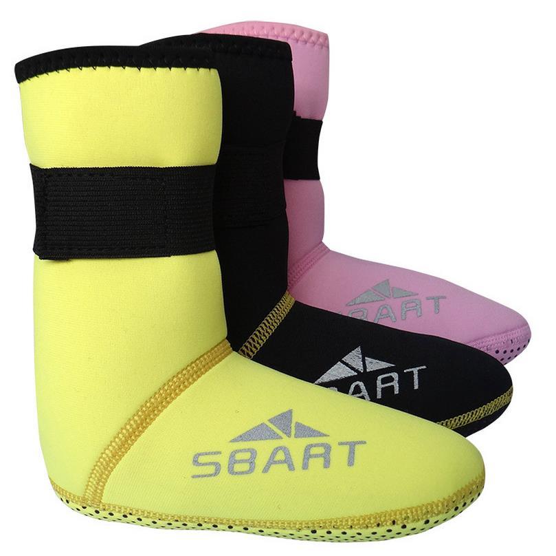 SBART 새로운 3 MM 어린이 스노클링 양말 비 - 슬립 하단 보호 겨울 수영 다이빙 수영 서핑 스노클링 부츠 S707