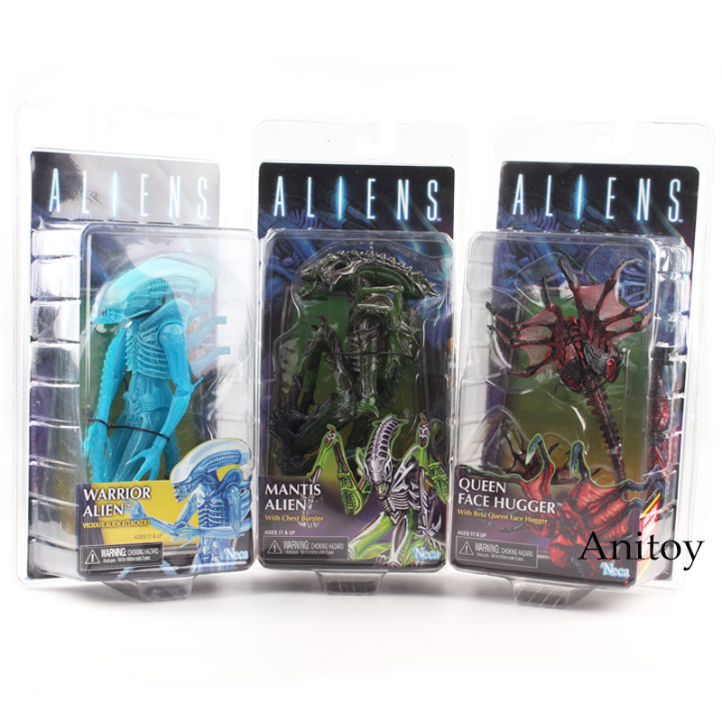 Anitoy NECA Chest Burster Queen Face Hugger Warrior Alien Action Figure PVC Toy Gift 18.5~21cm